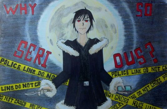 Orihara Izaya 'Why so serious?' by Panzer-13