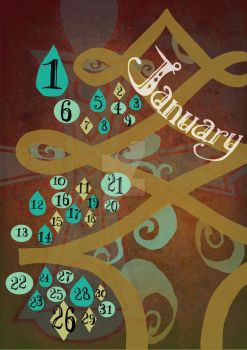 January Calendar by wikkedvenus