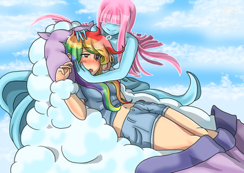 -Commission- Cloud Succubus and Rainbow Dash by Danimarion