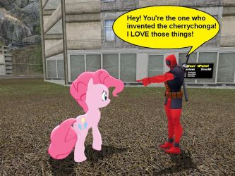 Deadpool Meets Pinkie by mattwo