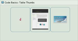 .:Code Basics: Table Gallery by ginkgografix