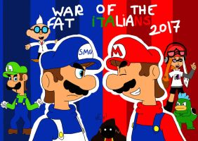 SMG4: War of The Fat Italians 2017 by Miix4befree12