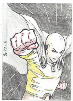 One Punch Man - Sketch Card by Ratcrack