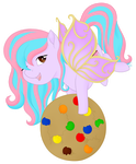 Sweetie Cakes Chibi badge by Beadedwolf22