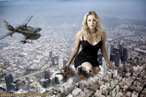 Giantess Kaley Cuoco by GiantessStudios101