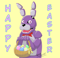 Here comes the Easter Bonnie! by GhostLiger