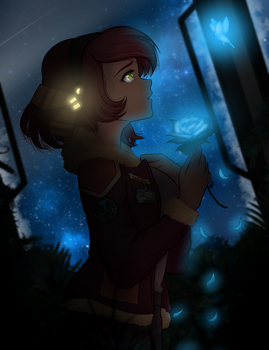 Ebb and Flo of the Galaxy - Art Trade - Ric-M by Chobittsu-Studios
