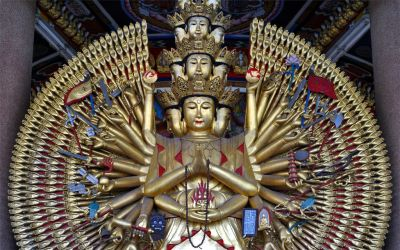 Kannon of the thousand arms by Kancano