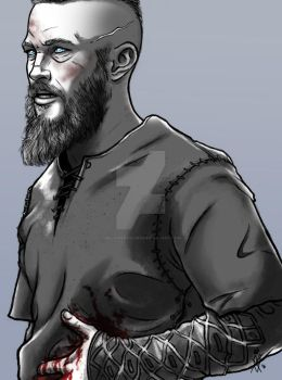 Ragnar Portrait by MelanieDarling