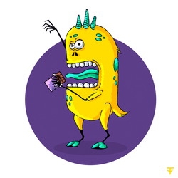 Chocolate monster by mindfnck