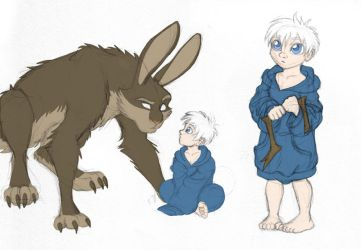 ROTG - Dark Pooka and Little Jack by merrypaws