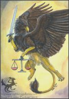 Gryphon Tarot: Justice by silvermoonnw