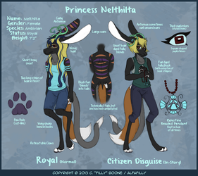 Nelthilta Reference Sheet by AlfaFilly