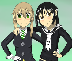 Maka and Tsugumi by BennyToursProd