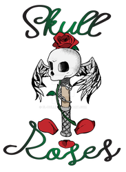 Skull and roses by El-bullit
