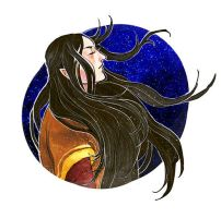 Maglor under the starry sky by S-Shanshan