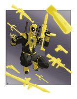 Yellow Lantern Sinestro Corp Deadpool by Alexander463