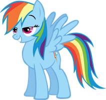 Pleased Rainbow Dash by RainbowCrab