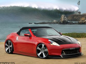 Nissan 370z red by phantondesign