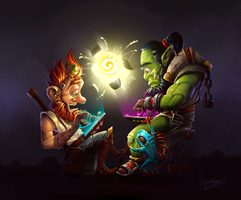 My entry for Hearthstone contest! by TetaMonja