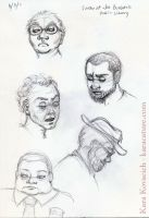 library sketches by karacature
