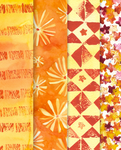 Orange geometry pattern pack by martinacecilia