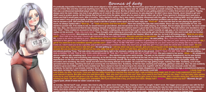 TG Caption - Bounce of duty by TGcompilation