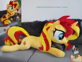 Lifesize Sunset Shimmer plush 50 inches / 130cm by Epicrainbowcrafts