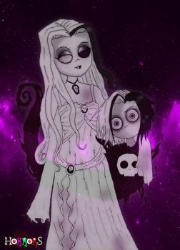 Luna and Eleanor Blackthorne by Little-Horrorz