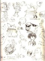 Page of Doodles by K-S-O