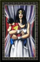 Wonder Woman and son by Mami02