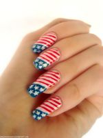 4th of July Nails by DancingGinger