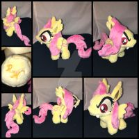 MLP 7 inch Filly Flutterbat Plushie .:Commission:. by RubioWolf