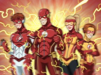 Flash Family by phil-cho