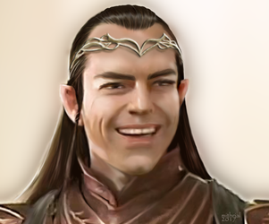 Elrond Smiling by mithrialxx