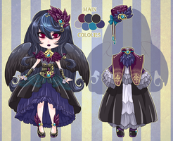 :Custom: Raven girl by MMtheMayo