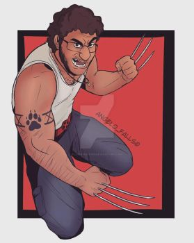 Angelo as Wolverine by LoneWolf510