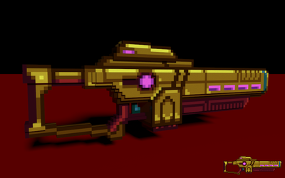 Voxel Sunlight Lance by Four-Cubed