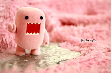 A pink domo in a pink world by yoshiko-fla