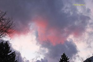 12027 Sunset reflected on Clouds III by wtsecraig