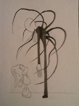 Cream and Slender Man by ArtKing3000