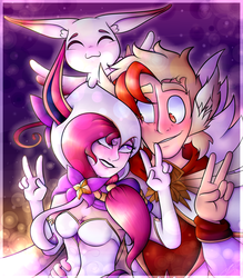 COMM: Divinity and Shannon by CosmicChrissy