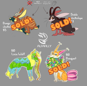 Adopts: Assorted Cuteness (1/4 OPEN) by AlfaFilly