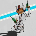 Jamie Hewlett Challenge: Space Kid by jmaur82