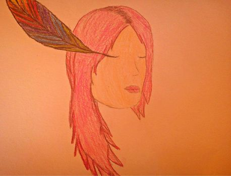 The Rainbow Feather by 1Dela1