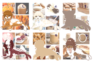 OPEN l (2 LEFT!) Coffee Themed seals by Sno-berry