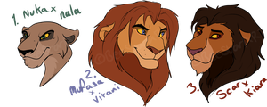Lion King offspring Adopts: CLOSED by BeeStarART