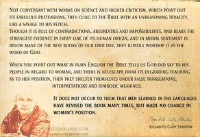 Elizabeth Cady Stanton on Bible.. by rationalhub