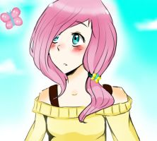 Human Fluttershy by iv511