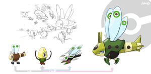 Fakemon - Aircraft insects by EstevaoPB